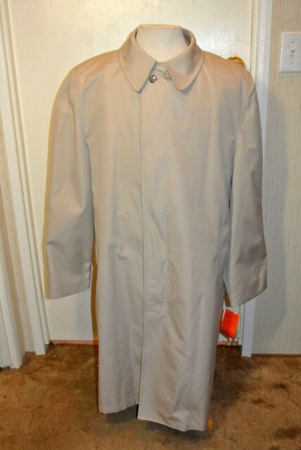 Stafford New W. Tag Trench Overcoat Insulated Zip out Liner Men`s 44R L-XL