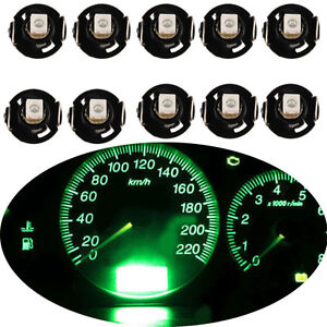 10X T4/T4.2 Neo Wedge Green LED Bulb Cluster Instrument Dash Climate Base Lights 701806020222