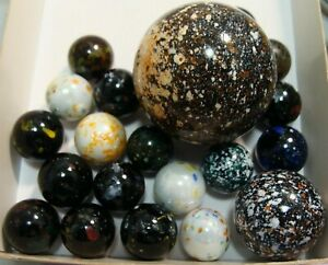 20-Marbles-X-Mas-Gift-Collect-Play-Boys-Girls-Speckled-Multicolor-Confetti-Sweet