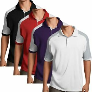 Antigua-Essentials-Mens-Golf-Polo-Shirt-with-Color-Block-Details