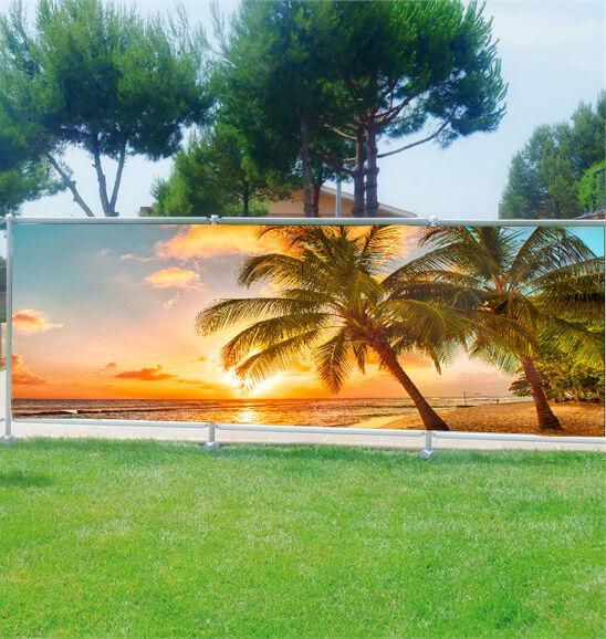 -schutz Ansicht Personnalisiert, Garten, Terrasse, Balkon Deko Palmen Tropen Ref