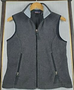 PATAGONIA-SYNCHILLA-Size-Medium-Made-in-USA-Womens-Charcoal-Fleece-Vest-Full-Zip