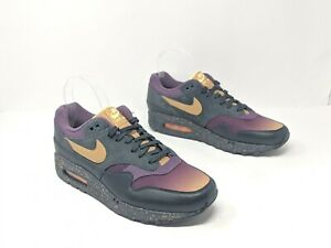 Details about NEW NIKE AIR MAX 1 PREMIUM FADE 875844 002 ANTHRACITEPRO PURPLEELEMENT GOLD