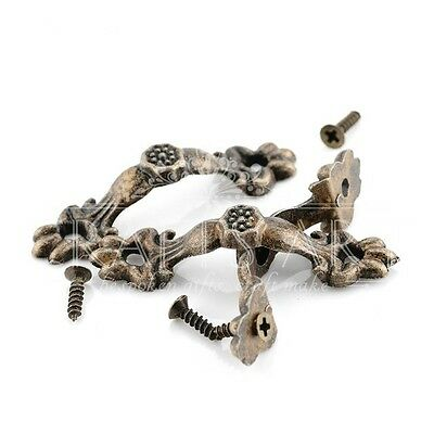 Bronze Tone 5 pcs Box Handle crafts DIY decoupage knobs 43*10MM Zinc Alloy