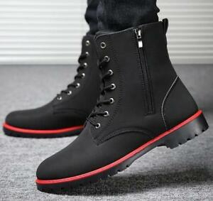 fashion mens high top lace up chukka ankle boot sport