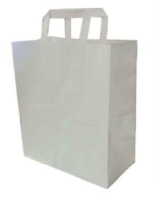 """4,000 x 5/"""" x 5/"""" White Sulphite Paper Sweet Party Bags"""