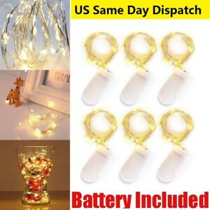 2m-20-LED-Micro-Silver-Copper-Wire-String-Fairy-Lights-Xmas-Decor-Waterproof-Lot