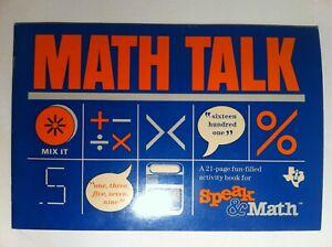 MATH TALK Speak & Math Activity Book 21-page booklet