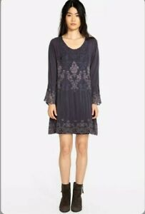 Johnny-Was-Robin-Tunic-Dress-Women-s-XS-Blue-Lace-Embroidered-288
