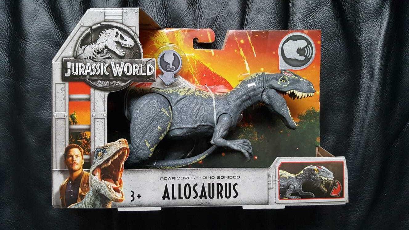Jurassic welt allosaurus' dinosaurier - dino roarivores mattel jurassic park -