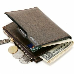 Men-Leather-Wallet-ID-Credit-Card-Holder-Clutch-Bifold-Pocket-Zipper-Coin-Purse