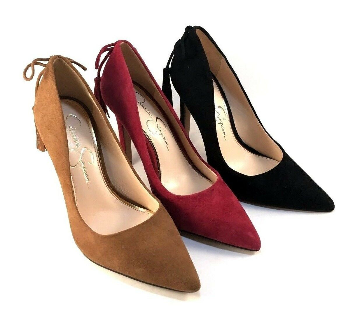 Jessica Simpson Centella Suede Leather Pointy Dress Pumps - Choose Sz color