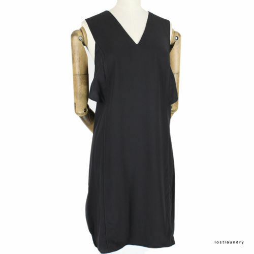 Silk Shift Layered Back Us4 Dress Uk8 Black Wang Alexander Crossover wYXRn