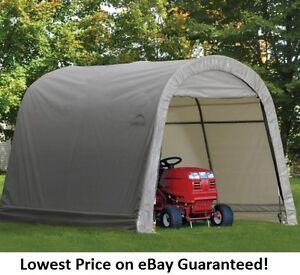 ShelterLogic 10x10x8 Round Economy Storage Shed Portable ...