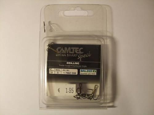 5 Drillinge Gr.10 CAMTEC Speci Ultra Sharp von Balzer