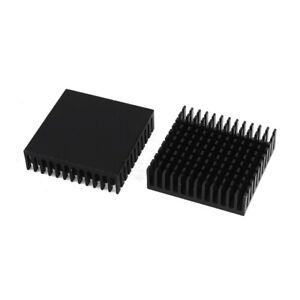 2-x-Black-Aluminum-Radiator-Heat-Sink-Heat-Sink-40-x-40-mm-x-11-mm-P4D3-BU
