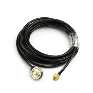 NEW-ANTENNA-NMO-MOUNT-3-4-034-HOLE-WITH-COAXIAL-RG58-Cable-5M-SMA-male-Connector