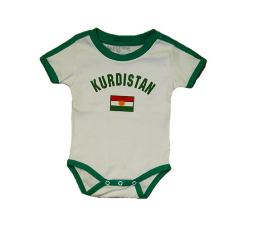 Kurdistan Baby Bodysuit 100/% Cotton Soccer Futbol Jersey Flag T-Shirt