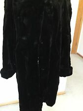 Women,s Winter coat,XXL,Black,Sheared Mink,Reversible,,Perfect Condition.