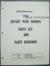 1970 Gilson Rotary Push Mower Illustr. Parts List Models 161, 166, 171, GIL-263A
