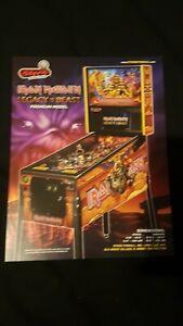 Iron Maiden Premium STERN PINBALL Original Promotional Advertising Flyer