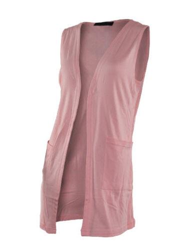 Midnight Glamour Donna senza maniche Cardigan Grigio Crema Pesca 8 10 12 14 16 18