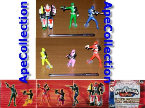 SET 6 Figure 10cm POWER RANGERS SPD URGENT COMMAND Super Sentai BANDAI Gashapon