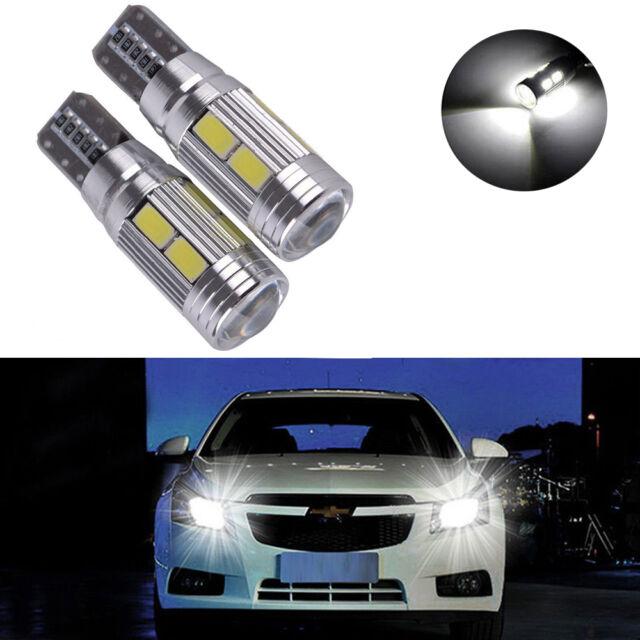 1x T10 Amber 194 W5W 5630 LED 10 SMD CANBUS ERROR FREE Car Side Wedge Light Bulb