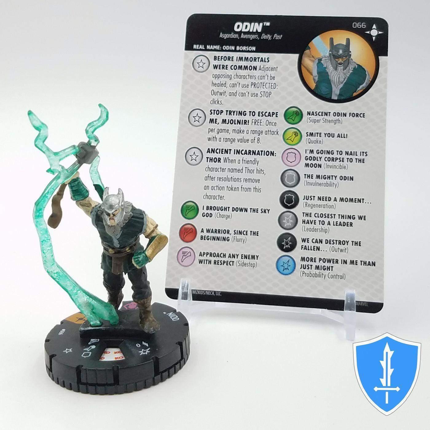 Oden - 066 förundras Secret Wars slåssvärld HeroClix Chase