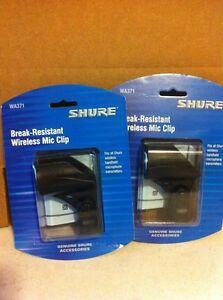 two pack ships free shure wa371 mic clip for handheld wireless transmitter tx ebay. Black Bedroom Furniture Sets. Home Design Ideas