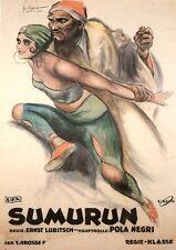 SUMURUN Filmplakat Ufa von 1920 Regie Ernst Lubitsch Pola Negri Faksimile 18