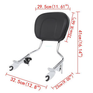 In Quality Motorcycle Backrest Sissy Bar Luggage Rack W/docking Kit For Harley Touring Road King Street Glide Flhx Flhr Flht Fltr 09-13 Superior