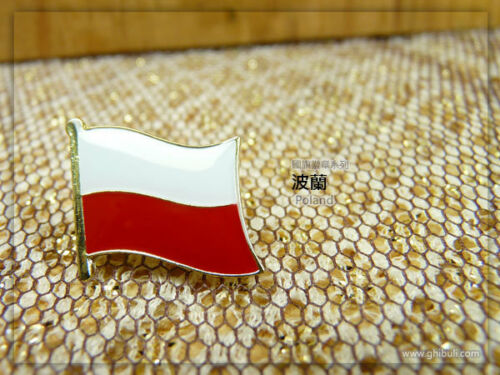 20mm*15mm Poland badge Country Flag Lapel Hat Cap Tie Pin Badge