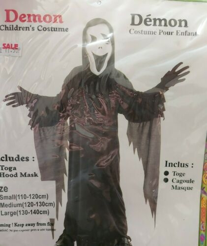 Children/'s Démon Fantôme Scream Halloween Party Fancy Dress Costume Medium...