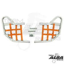 TRX 450R TRX450R    Nerf Bars  Alba Racing    Silver Bar Orange nets 218 T1 S0