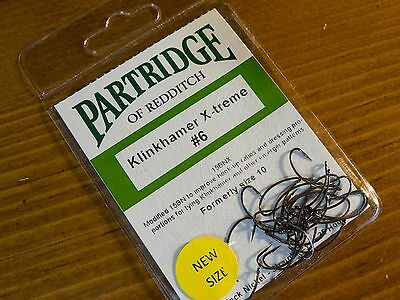 Constructief Partridge Klinkhamer X-treme #6 (formerly Size 10) Fly Tying Hooks Qty=25