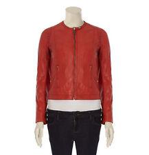 SIENNA DE LUCA Burnt Orange Leather Jacket BNWT