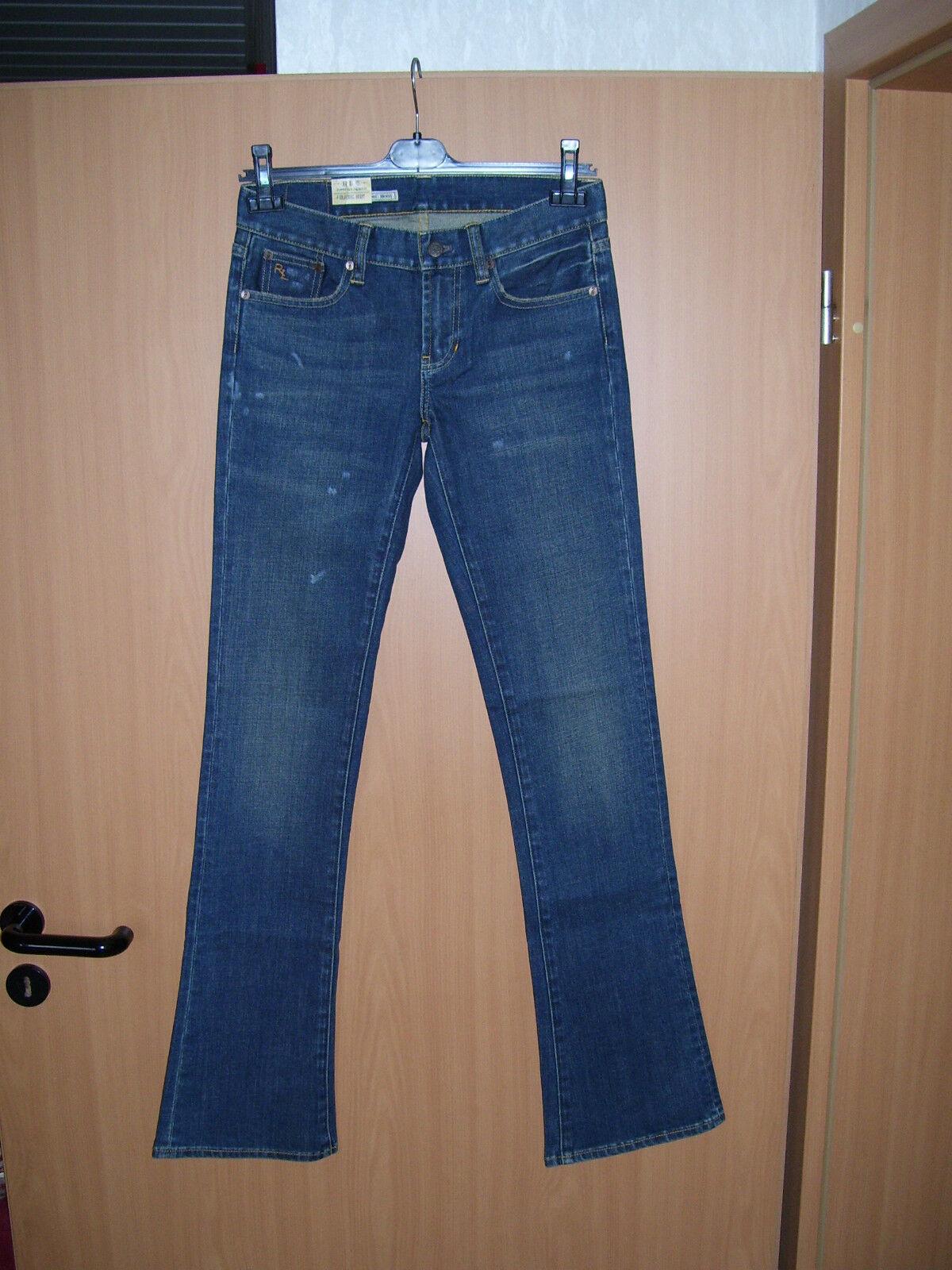 Ralph Lauren Denim Damen Stretch Jeans Classic Stiefel blau used look W29 L35 NEU