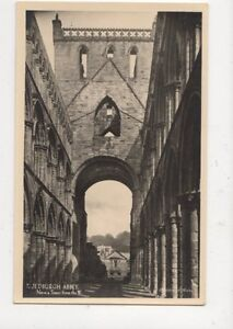 Jedburgh-Abbey-Nave-amp-Tower-From-West-RP-Postcard-496a