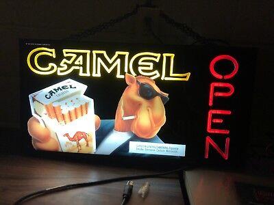 Vintage Joe Camel pool hall Lighted Plastic Sign