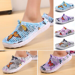 Womens-Shoes-Ladies-Sandals-Walking-Summer-Shoes-Soft-Pool-Printed-Flats