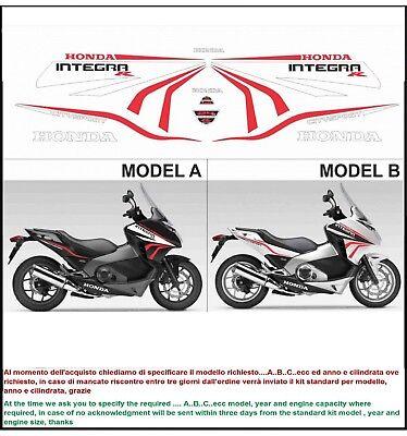 INDICARE IL MODELLO A o B Kit adesivi decal stickers HONDA INTEGRA R 750 2012-2013 FORMANUDESIGN