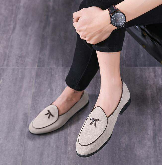 2018 Spring Mens Slip On Loafers Casual shoes Pointed Toe British Nightclubs New