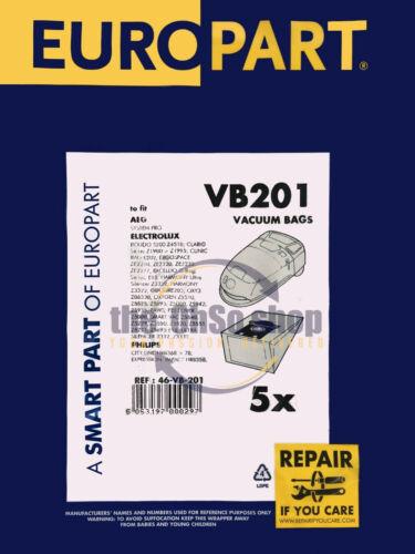 Z1943 5x Electrolux//AEG E200 poussière sacs aspirateur-Clario Z1925 Z1935