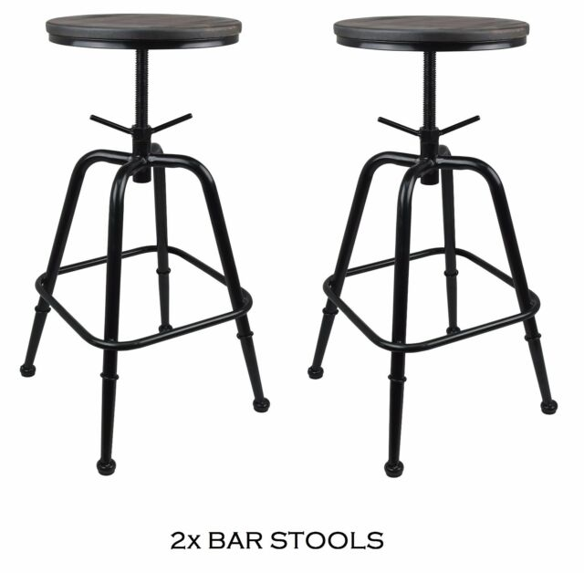 Tesco Pair Of 2 Folding Bar Stool Chairs Black A For