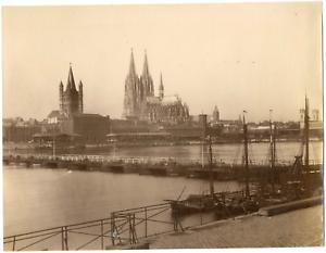 Allemagne-Cologne-Koln-vue-panoramique-de-la-ville-et-de-la-cathedrale-Vinta