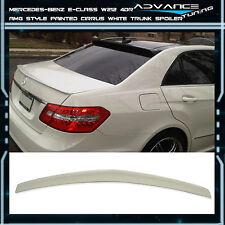 10-16 Benz E-Class W212 4Dr Trunk Spoiler OEM Painted Color # 650 Cirrus White