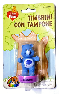 CARE-BEARS-TIMBRINO-CON-TAMPONE-BLISTERATO-BY-LITARDI-VINTAGE-MADE-IN-HONG-KONG