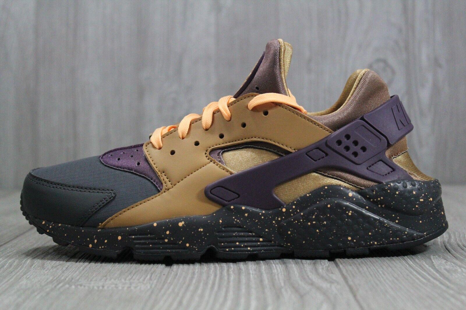 35 Mens Nike Air Huarache Run PRM PRM PRM Anthracite Purple gold shoes 704830 012 SZ 9.5 9e73fb