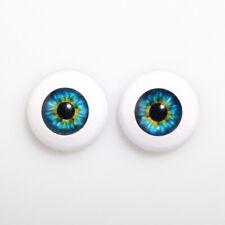 Green CE-02 BJD Acrylic cat ooak  16mm OMeta Half Round Acrylic Eyes